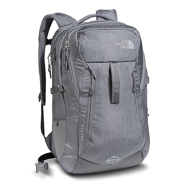 The North Face Router Backpack 2018, TNF Medium Grey Heather-Zinc Grey, 600