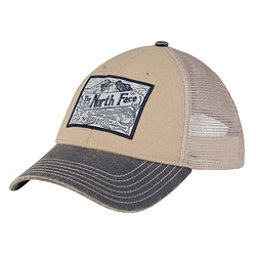 The North Face Broken In Trucker Mens Hat, TNF Oatmeal Heather-Urban Navy, 256