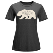 The North Face Natural World Ringer Womens T-Shirt, TNF Dark Grey Heather, medium