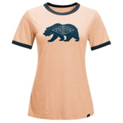 The North Face Natural World Ringer Womens T-Shirt, Evening Sand Pink Heather, medium