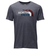 The North Face Americana Tri-Blend Slim T-Shirt, TNF Medium Grey Heather-Barolo, medium