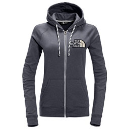 The North Face Americana Full Zip Womens Hoodie, TNF Medium Grey Heather-Urban, 256