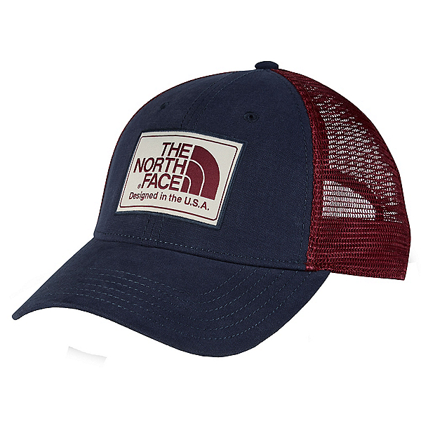 The North Face Americana Trucker Mens Hat, Urban Navy-Barolo Red, 600