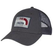 The North Face Americana Trucker Mens Hat, Asphalt Grey-Barolo Red Multi, medium