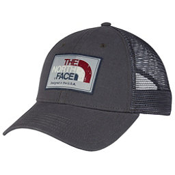 The North Face Americana Trucker Mens Hat, Asphalt Grey-Barolo Red Multi, 256
