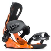 Gnu Weird Snowboard Bindings, Orange, medium