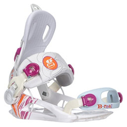 Gnu B-Real Womens Snowboard Bindings, White, 256