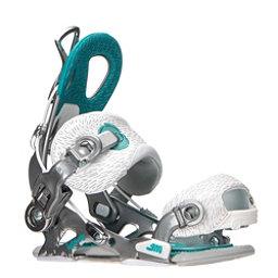 Gnu B-Famous Womens Snowboard Bindings, Silver, 256