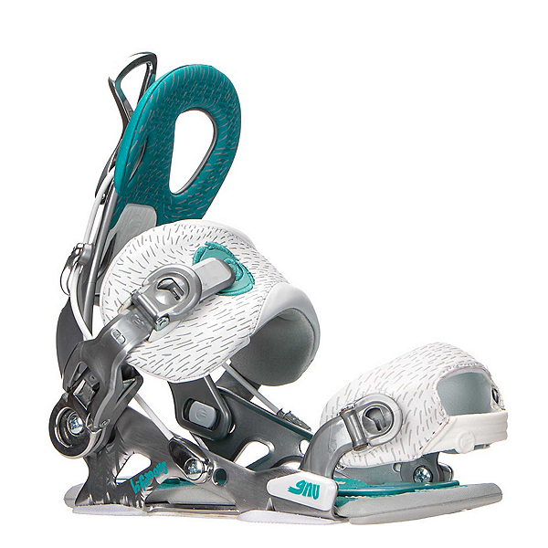 Gnu B-Famous Womens Snowboard Bindings, Silver, 600