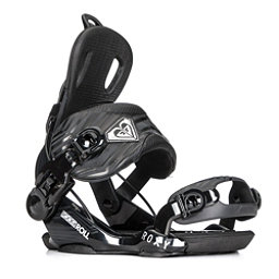 Roxy Rock-It Roll Womens Snowboard Bindings, Black, 256