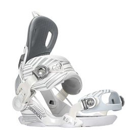 Roxy Rock-It Roll Womens Snowboard Bindings, White, 256
