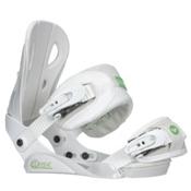 Roxy Classic Womens Snowboard Bindings, White, medium