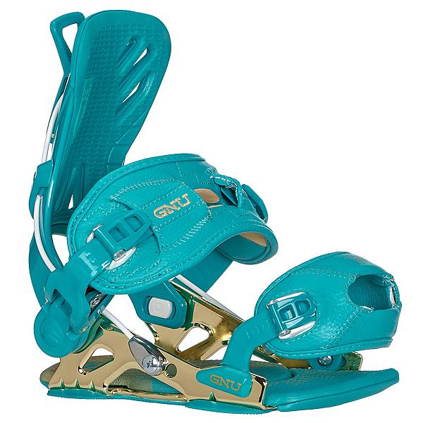 Gnu B-Free Womens Snowboard Bindings, Blue, 600