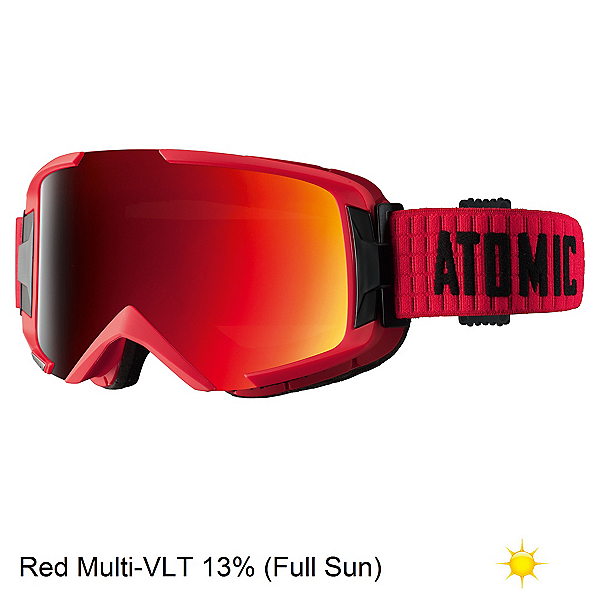 Atomic Savor ML Goggles, Red-Red, 600
