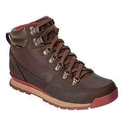 The North Face Back-To-Berkeley Leather Mens Boots, Carafe Brown-Ketchup Red, 256