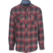 Woolrich Miners Wash Flannel Shirt, Steel Gray, medium