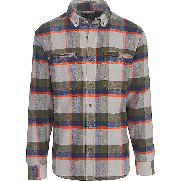 Woolrich Oxbow Pass Eco Rich Flannel Shirt, Geyser Herringbone, 600