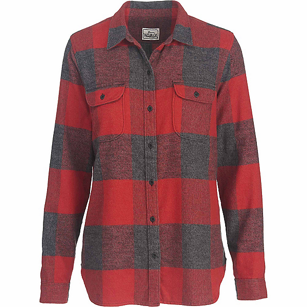 Woolrich Eco Rich Twisted Rich Flannel Shirt, Beet Check, 600