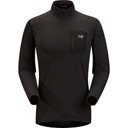 Arc'teryx RHO LT Zip neck Mens Long Underwear Top, Black, 256
