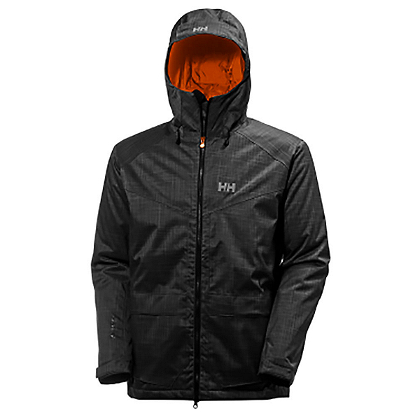 Helly Hansen Nelson Mens Insulated Ski Jacket, Ebony, 600