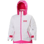 Helly Hansen Lousie Girls Ski Jacket, White, medium