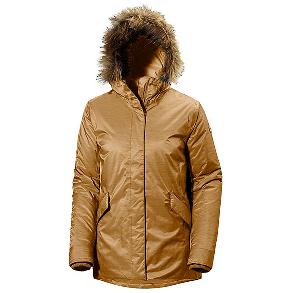 Helly Hansen Hilton 2 Parka w/Faux Fur Womens Jacket, Brunette Brown, 600