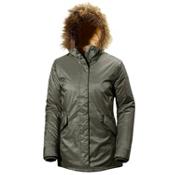 Helly Hansen Hilton 2 Parka w/Faux Fur Womens Jacket, Olive Night, medium