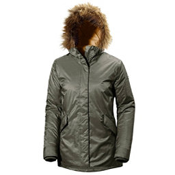 Helly Hansen Hilton 2 Parka w/Faux Fur Womens Jacket, Olive Night, 256