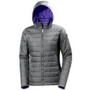 Helly Hansen Astra Hooded Womens Jacket, Rock, medium