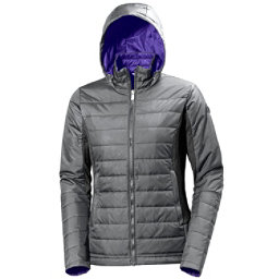 Helly Hansen Astra Hooded Womens Jacket, Rock, 256