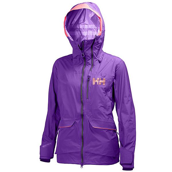 Helly Hansen Aurora Womens Shell Ski Jacket, Sunburned Purple, 600