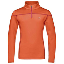 KJUS Jade Half Zip Girls Midlayer, Spicy Orange, 256