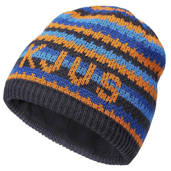 KJUS Ride Beanie Kids Hat, Kjus Orange-Atlanta Blue, 600