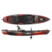 Perception Pescador Pilot 12 Kayak 2017, Red Tiger Camo, medium