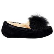 UGG Dakota Pom Pom Womens Slippers, Black, medium