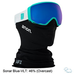 Anon WM 1 MFI Womens Goggles 2018, Empress Teal-Sonar Blue, 256