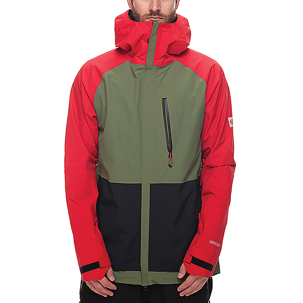 686 GLCR GORE-TEX GT Mens Shell Snowboard Jacket, Red Colorblock, 600
