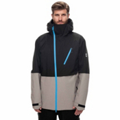 686 GLCR Hydra Thermagraph Mens Insulated Snowboard Jacket, Black Twill Colorblock, medium
