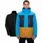 686 Smarty 3-in-1 Form Mens Insulated Snowboard Jacket, Bluebird Colorblock, medium