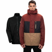 686 Smarty 3-in-1 Form Mens Insulated Snowboard Jacket, Rusty Red Melange Colorblock, medium