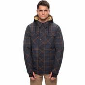 686 Woodland Mens Insulated Snowboard Jacket, Dark Denim Plaid, medium