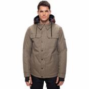 686 Woodland Mens Insulated Snowboard Jacket, Khaki Melange, medium