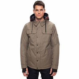 686 Woodland Mens Insulated Snowboard Jacket, Khaki Melange, 256