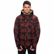 686 Woodland Mens Insulated Snowboard Jacket, Rusty Red Plaid, medium
