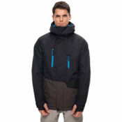 686 Geo Mens Insulated Snowboard Jacket, Black Colorblock, medium
