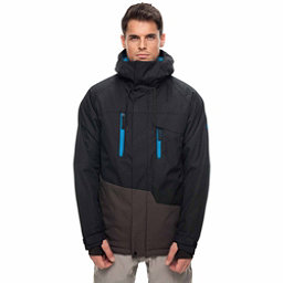 686 Geo Mens Insulated Snowboard Jacket, Black Colorblock, 256