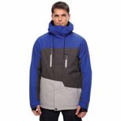 686 Geo Mens Insulated Snowboard Jacket, Cobalt Colorblock, medium