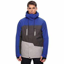 686 Geo Mens Insulated Snowboard Jacket, Cobalt Colorblock, 256