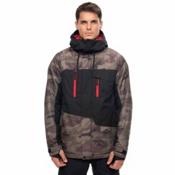 686 Geo Mens Insulated Snowboard Jacket, Fatigue Camo Colorblock, medium