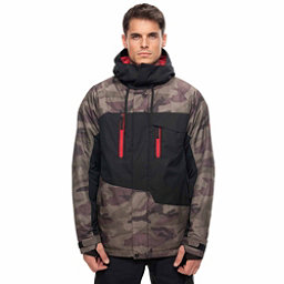 686 Geo Mens Insulated Snowboard Jacket, Fatigue Camo Colorblock, 256